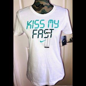 Nike Dri-Fit Kiss My Fast Tee Sz M
